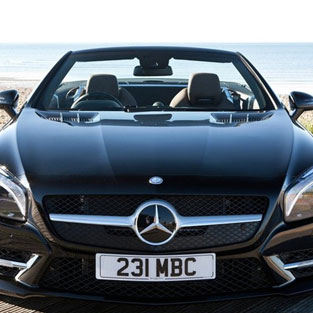 Ibiza Car hire Mercedes Benz SL 500