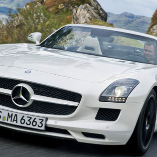 Ibiza car rental Mercedes SLS Roadster