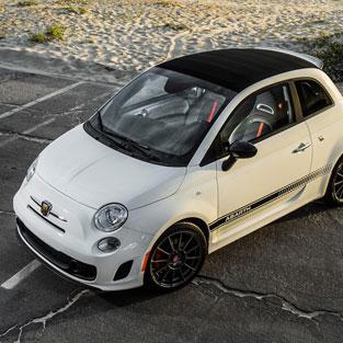 Ibiza car hire Fiat 500 abarth cabrio